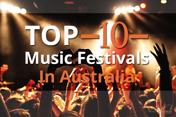 Top 10 Music Festivals in Australia